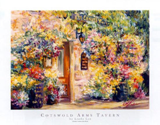 Cotswold Arms Tavern-Linda Lee-Art Print