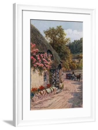Cottage at Cockington-Alfred Robert Quinton-Framed Giclee Print