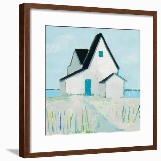 Cottage by the Sea Neutral-Phyllis Adams-Framed Art Print