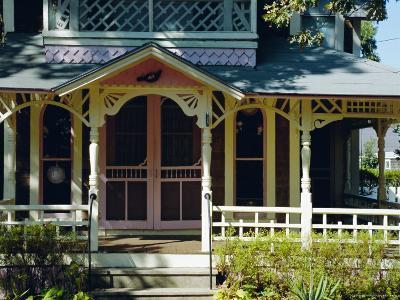 Cottage City, 19th C. Cottages, Oak Bluffs, Martha's Vineyard, Massachusetts USA-Fraser Hall-Photographic Print
