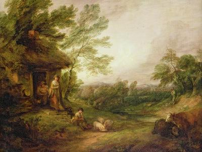 Cottage Door with Girl and Pigs, C.1786-Thomas Gainsborough-Giclee Print