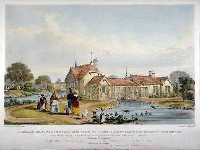 Cottage Erected in St James's Park for the Ornithological Society of London, Westminster, 1844-John Burges Watson-Giclee Print