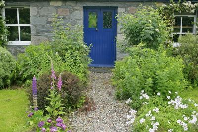 Cottage Garden in Spring with Path Leading to Front Door--Photographic Print