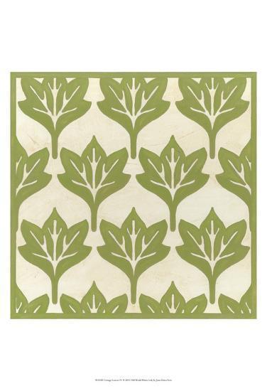 Cottage Leaves IV-Erica J^ Vess-Art Print