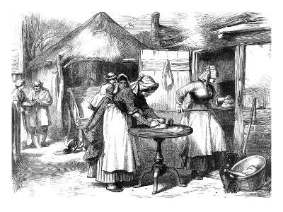 Cottage Life in Warwickshire: Baking Day--Giclee Print