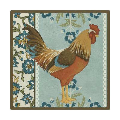 Cottage Rooster IV-Erica J^ Vess-Art Print