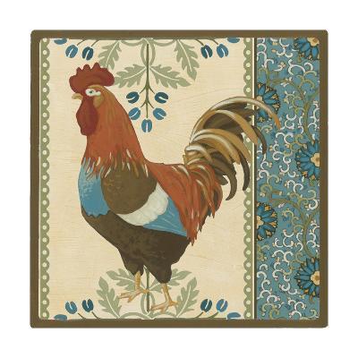 Cottage Rooster V-Erica J^ Vess-Art Print