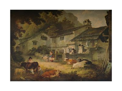 Cottage Scenery with Cattle, at Ambleside, 1803-Julius Caesar Ibbetson-Giclee Print
