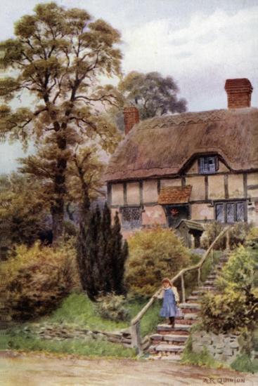 Cottage Steps, Ardington, Berkshire-Alfred Robert Quinton-Giclee Print