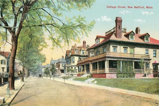 Cottage Street, New Bedford--Art Print