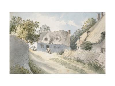 Cottages in a Village Street-John Baptist Malchair-Giclee Print