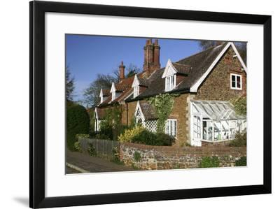 Cottages in the Village of Castle Rising, Kings Lynn, Norfolk, 2005-Peter Thompson-Framed Photographic Print