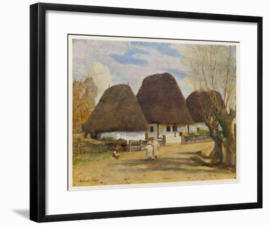 Cottages in Transylvania--Framed Giclee Print