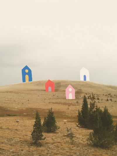 Cottages on Big Horn-Danielle Kroll-Giclee Print