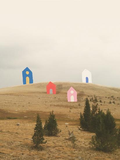 Cottages on Big Horn-Danielle Kroll-Giclee Print