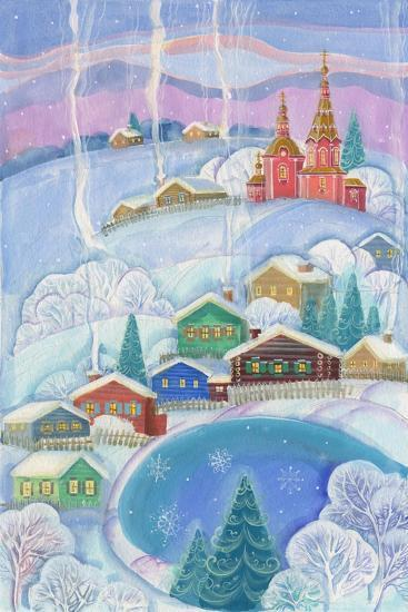 Cottages under the Snow Cabin-ZPR Int'L-Giclee Print