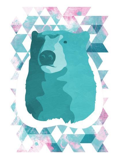 Cotton Candy Triangular Bear-OnRei-Art Print