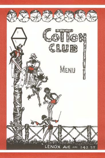 Cotton Club Menu Cover--Art Print