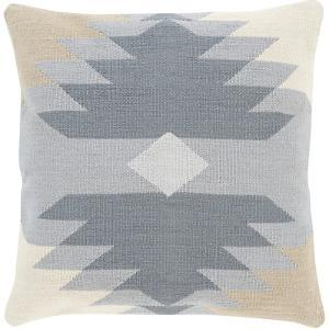 Cotton Kilim Pillow Cover - Grey