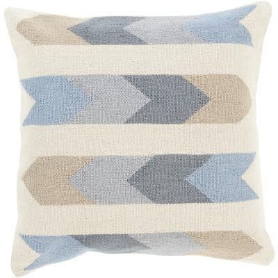 Cotton Kilim Stripes Pillow Cover - Slate--Home Accessories