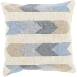 Cotton Kilim Stripes Pillow Cover - Slate