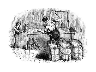 Cotton Manufacture, C1845--Giclee Print
