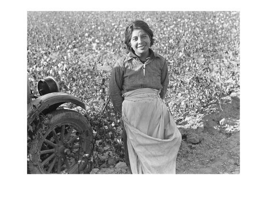Cotton Picker-Dorothea Lange-Art Print