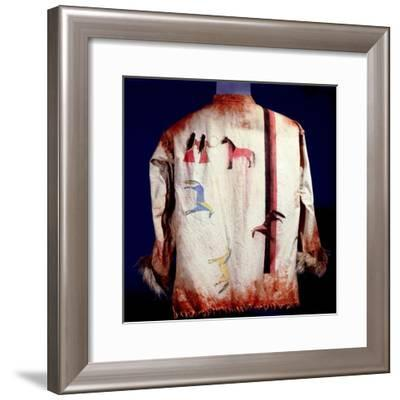 Cotton shirt painted with figures and horses-Werner Forman-Framed Giclee Print