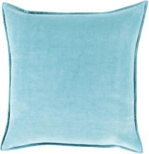 Cotton Velvet Down Fill Pillow - Aqua