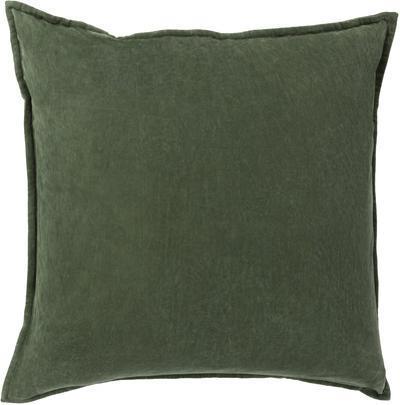 Cotton Velvet Down Fill Pillow - Emerald