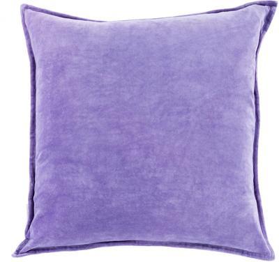 Cotton Velvet Down Fill Pillow - Iris
