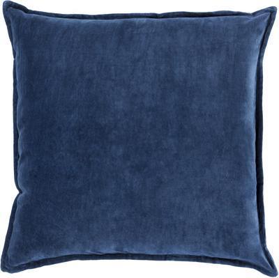 Cotton Velvet Down Fill Pillow - Navy