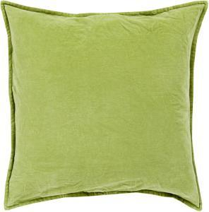 Cotton Velvet Down Fill Pillow - Olive