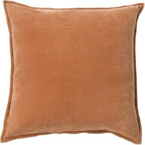 Cotton Velvet Down Fill Pillow - Rust (approx in-house date 11/13) *