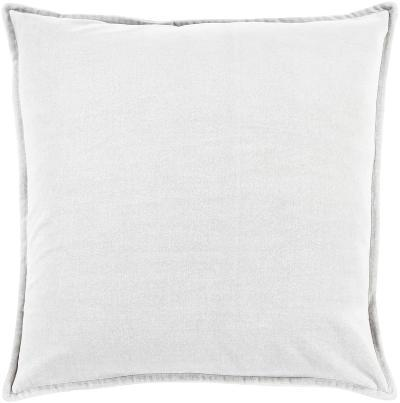 Cotton Velvet Down Fill Pillow - Silver--Home Accessories