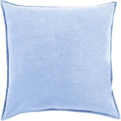 Cotton Velvet Down Fill Pillow - Sky Blue