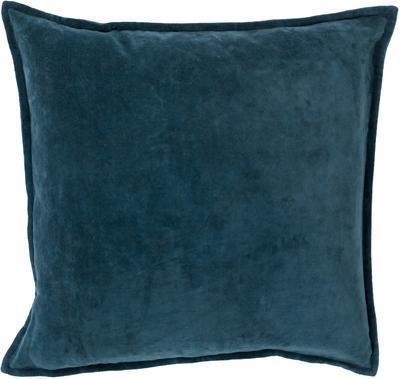 Cotton Velvet Down Fill Pillow - Teal *