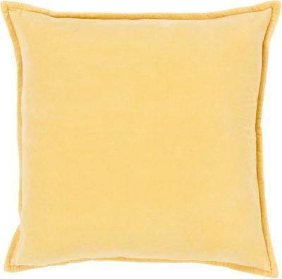 Cotton Velvet Down Fill Pillow - Wheat