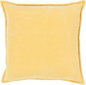 Cotton Velvet Down Fill Pillow - Wheat