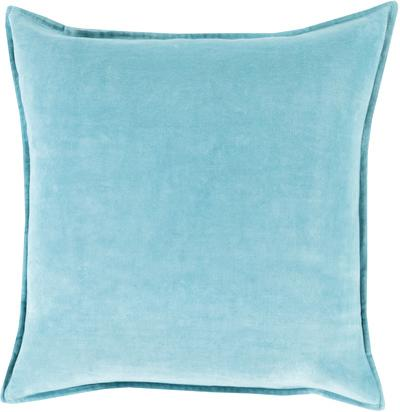 Cotton Velvet Poly Fill Pillow - Aqua
