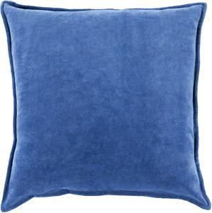 Cotton Velvet Poly Fill Pillow - Cobalt