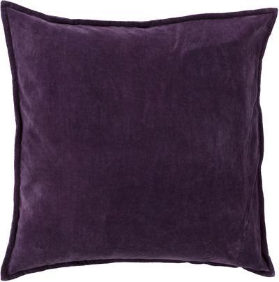 Cotton Velvet Poly Fill Pillow - Eggplant