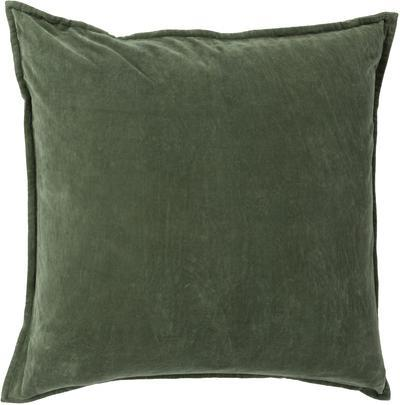 Cotton Velvet Poly Fill Pillow - Emerald