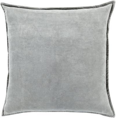 Cotton Velvet Poly Fill Pillow - Misty Grey--Home Accessories