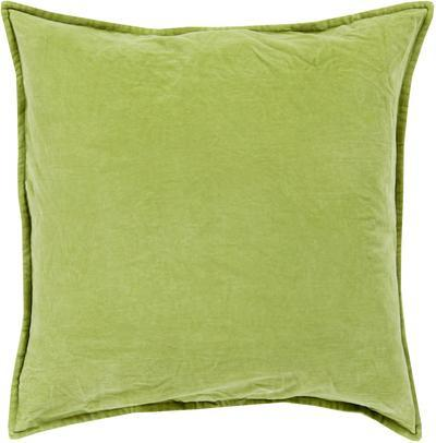 Cotton Velvet Poly Fill Pillow - Olive