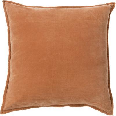 Cotton Velvet Poly Fill Pillow - Rust