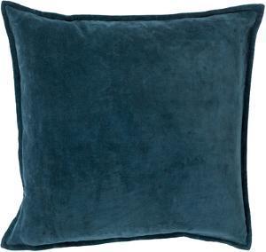 Cotton Velvet Poly Fill Pillow - Teal *