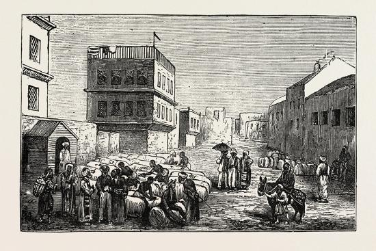 Cotton Yard, Minet El Basel, Alexandria Samples from Cotton Bags, Egypt, 1873--Giclee Print
