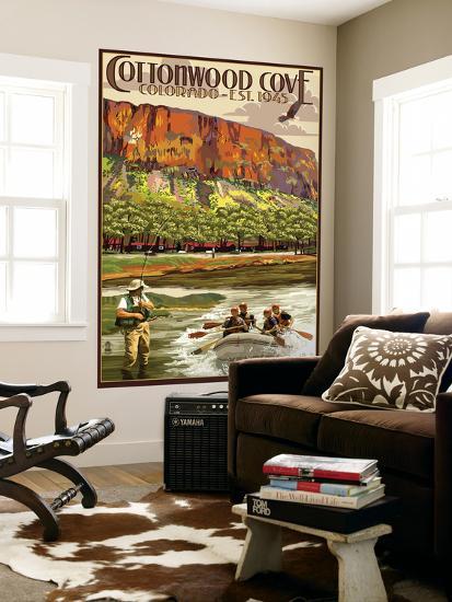 Cottonwood Cove, Colorado Views-Lantern Press-Wall Mural