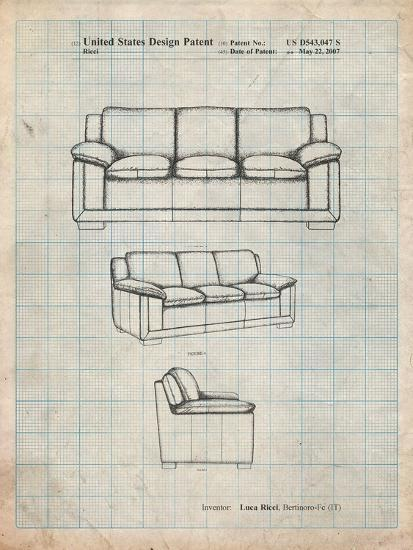 Couch Patent-Cole Borders-Art Print